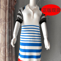 Dress Spring 2020 Sailboat in the sea XS,S,M,L singleton  Short sleeve commute stripe One pace skirt literature 71% (inclusive) - 80% (inclusive)