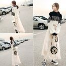 Fashion suit Autumn 2020 M 96--110,S 80--95,XL 120--130,L 110--120 Single top, picture color of sweater + white skirt, picture color of sweater + black skirt 30% and below