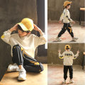 suit Babybody Beige haze blue black male spring and autumn Korean version Long sleeve + pants 2 pieces routine There are models in the real shooting Socket nothing Solid color Cotton blended fabric elder Giving presents at school Q19072 Class B Spring of 2019