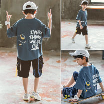 suit Babybody 110cm 120cm 130cm 140cm 150cm 160cm 170cm male summer Korean version Short sleeve + pants 2 pieces Thin money There are models in the real shooting Socket nothing cotton elder Giving presents at school Class B Other 100% Summer 2020