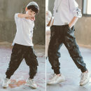 trousers Babybody male 110cm 120cm 130cm 140cm 150cm 160cm 170cm spring and autumn trousers Korean version There are models in the real shooting Casual pants Leather belt middle-waisted cotton Don't open the crotch Cotton 100% Class B Autumn of 2019