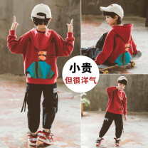 suit Babybody White brick red black 120cm 130cm 140cm 150cm 160cm 170cm male spring and autumn Korean version Long sleeve + pants 2 pieces routine There are models in the real shooting Socket No detachable cap elder Giving presents at school Q19582B Class B Other 100% Autumn of 2019