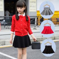 skirt Red, grey, black female Cotton 90% polyurethane elastic fiber (spandex) 10% No season skirt princess Cake skirt Pure cotton (100% cotton content) Class B