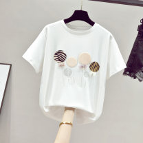 T-shirt White black blue purple pink Average size Summer 2021 Short sleeve Crew neck easy Regular routine commute other 96% and above Korean version Ohmdana / odena Other 100% Pure e-commerce (online only)