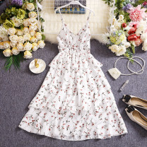 Dress Summer 2021 Black, white, pink Average size Mid length dress singleton  Sleeveless commute V-neck High waist Decor Socket other other camisole 25-29 years old Type A Other / other Simplicity W424 91% (inclusive) - 95% (inclusive) other other