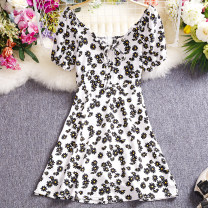 Dress Summer 2021 White, black Average size Short skirt singleton  Short sleeve commute One word collar High waist Decor Socket A-line skirt routine Others 18-24 years old Type A Other / other Korean version W315 81% (inclusive) - 90% (inclusive) other other
