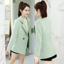 woolen coat Winter of 2019 XS S M L XL XXL 3XL Viscose fiber 30% and below have cash less than that is registered in the accounts Long sleeves commute double-breasted routine tailored collar Solid color Self cultivation Korean version Lagurago 25-29 years old Pocket button Solid color polyester fiber