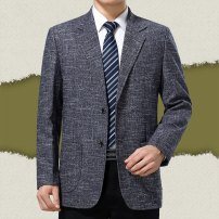 man 's suit Others Business gentleman routine Danxi easy Double breasted Other leisure No slits middle age Long sleeves autumn Casual clothes No iron treatment