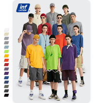 T-shirt Youth fashion routine M,L,XL,S inflation Short sleeve Crew neck easy Other leisure spring Cotton 100% youth Off shoulder sleeve American leisure other 2020 Solid color printing Cotton ammonia other Fashion brand