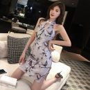 cheongsam Spring 2021 S,M,L lilac colour Sleeveless Short cheongsam ethnic style Low slit daily woman's dress buttoned down from right armpit Decor 18-25 years old Piping 191005-1 51% (inclusive) - 70% (inclusive)