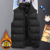 Vest / vest Youth fashion Cool castle on E Street M L XL 2XL 3XL 4XL 5XL Other leisure standard Cotton vest routine autumn stand collar teenagers 2020 tide EJ2121 Solid color zipper Polyester 100% No iron treatment Multiple pockets Zipper bag Autumn of 2019 Pure e-commerce (online only)