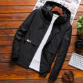 Jacket Cool castle on E Street Youth fashion M L XL 2XL 3XL 4XL routine Self cultivation Other leisure autumn EJ JK812 Polyester 100% Long sleeves Wear out Hood tide youth routine Zipper placket Cloth hem No iron treatment Closing sleeve Solid color polyester fiber Autumn 2020 More than two bags)