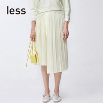 skirt Spring 2020 XS S M L XL longuette Natural waist 25-29 years old More than 95% LESS polyester fiber Polyester 100% Pure e-commerce (online only)