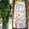 skirt Summer of 2018 XS,S,M,L white longuette fresh Natural waist Fairy Dress Broken flowers Type A Chiffon