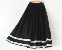 skirt Summer of 2018 XS,S,M,L black longuette Retro Natural waist Little black dress Solid color Type A Chiffon