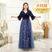 Dress / evening wear Wedding, adulthood, party, company annual meeting, performance, routine, appointment XXL, XXXL, XL, XXXXL, personal size customization [contact customer service to change price] Black [medium long], black [long] fashion longuette middle-waisted Summer 2020 A-line skirt Bandage