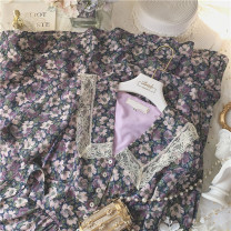 Dress Summer 2020 There is zipper on the side of the flower S, M