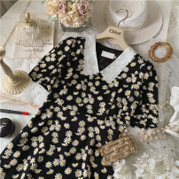 Dress Summer 2020 Yellow daisy, black daisy S, M