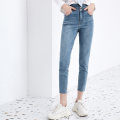 Jeans Spring 2021 401 blue 401 blue (pre sold around 4.1) 150/58A/XS 155/62A/S 160/66A/M 165/70A/L 170/74A/XL Ninth pants High waist Pencil pants routine 25-29 years old Metal decoration other Dark color 121139GJ903401 Lily / Lily Other 100% Same model in shopping mall (sold online and offline)