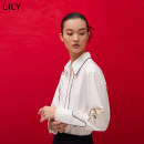 shirt 603 white books XS S M L XL Spring 2021 polyester fiber 81% (inclusive) - 90% (inclusive) Long sleeves commute Regular Polo collar Single row multi button routine other 25-29 years old Straight cylinder Lily / Lily Ol style 121110G4252 Embroidery chain Polyester 80.6% viscose 19.4%