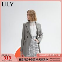 suit Autumn 2020 519 light grey 150/76A/XS 155/80A/S 160/84A/M 165/88A/L 170/92A/XL Long sleeves Medium length Self cultivation Refutation double-breasted commute Solid color 25-29 years old 51% (inclusive) - 70% (inclusive) polyester fiber Lily / Lily Button