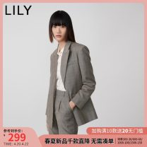 suit Autumn 2020 707 light coffee 150/76A/XS 155/80A/S 160/84A/M 165/88A/L 170/92A/XL Nine point sleeve routine easy tailored collar Buckle commute routine lattice 120330C2221707 25-29 years old 81% (inclusive) - 90% (inclusive) polyester fiber Lily / Lily pocket Polyester 89% viscose (viscose) 11%