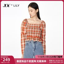 Lace / Chiffon Winter 2020 150/76A/XS 155/80A/S 160/84A/M 165/88A/L 170/92A/XL Long sleeves commute Socket singleton  Self cultivation have cash less than that is registered in the accounts square neck lattice puff sleeve 25-29 years old Lily / Lily Ruffle Ruffle Ol style