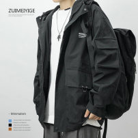 Jacket Zui Meiyi Pavilion Youth fashion Black jk202 black jk46 black jk46 gray S M L XL 2XL 3XL 4XL 5XL easy Other leisure autumn ZM20LL009 Polyester 100% Long sleeves Wear out stand collar Youthful vigor youth routine Zipper placket Summer 2020 Pure e-commerce (online only)