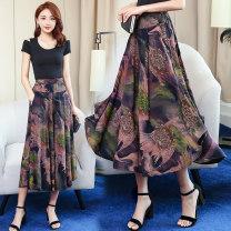 Casual pants Khaki, suit, black, 1, 2, 3, 4, 5, 6, 7, 9, 10, 11, 12, 13, 14, 15, 17, 18, 19, 20, 21, 23, 24, 25, 26 XL,2XL,3XL,4XL Summer 2020 Ninth pants Wide leg pants High waist Thin money 81% (inclusive) - 90% (inclusive) Cotton blended fabric