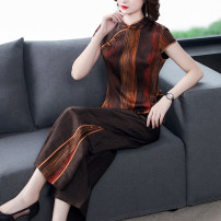 Fashion suit Spring 2021 L XL 2XL 3XL 4XL Vertical stripe Over 35 years old Youranxu / youranxuan 9811-1 96% and above silk Other 100% Pure e-commerce (online only)