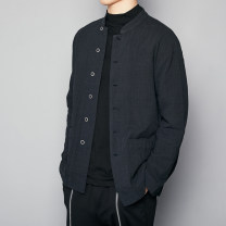Jacket Other / other Fashion City Green, wash water black S,M,L,XL routine standard Other leisure autumn DJ13 Long sleeves Wear out stand collar tide youth routine Single breasted 2018 Solid color