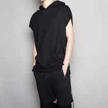 Sweater Fashion City Others Black, gray, white Solid color Socket Thin money summer easy leisure time youth tide Bat sleeve LE21 cotton More than 95%