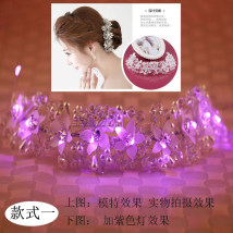 Hair accessories an crown RMB 1.00-9.99 Xiaoming The first white lamp, two electronic lamps, the second purple lamp, the third color lamp, the fourth pink lamp, the fifth blue lamp and the sixth red lamp brand new Japan and South Korea Fresh out of the oven other Not inlaid