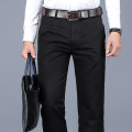 Casual pants Teng Pai Business gentleman 29 30 31 32 33 34 35 36 37 38 40 42 Plush and thicken trousers go to work easy No bullet winter middle age 2020 middle-waisted Straight cylinder Cotton 100% Pocket decoration washing Solid color cotton Spring 2020 Pure e-commerce (online only) More than 95%