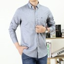 shirt Fashion City Teng Pai M L XL 2XL 3XL 9995 blue 9995 purple 9995 grey 9996 blue 9996 grey routine Button collar Long sleeves standard go to work autumn GZ9995 youth Cotton 100% Simplicity in Europe and America 2020 Solid color oxford Autumn 2020 washing cotton Pure e-commerce (online only)