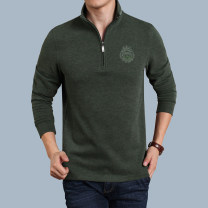 T-shirt other routine M L XL 2XL 3XL Teng Pai Long sleeves stand collar standard Other leisure autumn Cotton 60% polyester 40% middle age routine Business Casual Knitted fabric Autumn 2020 Embroidered logo cotton Domestic famous brands Pure e-commerce (online only) 50% (inclusive) - 69% (inclusive)