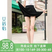 skirt Summer of 2019 M L XL black Short skirt Versatile Natural waist Umbrella skirt 25-29 years old More than 95% I believe you polyester fiber Polyester 98% polyurethane elastic fiber (spandex) 2% Pure e-commerce (online only)