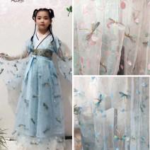 Fabric / fabric / handmade DIY fabric Netting Cartoon animation Yarn dyed weaving Chinese style