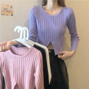 Wool knitwear Spring 2021 Average size White, purple, black, lotus root pink Long sleeves singleton  Socket other 51% (inclusive) - 70% (inclusive) have cash less than that is registered in the accounts routine commute Self cultivation Low crew neck routine Solid color Socket Korean version Others