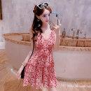 Dress Summer 2020 gules S,M,L Short skirt singleton  Sleeveless commute High waist camisole 18-24 years old Korean version