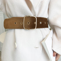 Belt / belt / chain other female Waistband Versatile Single loop Children, teenagers, youth Pin buckle Geometric pattern soft surface 6.3cm alloy alone Other / other