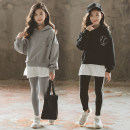 suit Other / other 110cm,120cm,130cm,140cm,150cm,160cm,165cm female spring and autumn Korean version Long sleeve + pants 2 pieces routine There are models in the real shooting Socket No detachable cap Solid color cotton elder Expression of love Class B Cotton 95% other 5%