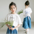 T-shirt Other / other female summer Short sleeve Crew neck Korean version There are models in the real shooting cotton Solid color Cotton 95% other 5% Class B Sweat absorption 14, 13, 12, 11, 10, 9, 8, 7, 6, 5, 4, 3, 2 years old