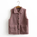 Middle aged and old women's wear Spring 2021 Coffee, brown, off white, deep purple XL [suggested 110-135 kg], 2XL [suggested 135-155 kg], 3XL [suggested 155-175 kg], 4XL [suggested 175-195 kg] commute Vest easy singleton  other 40-49 years old Cardigan moderate stand collar routine other pocket