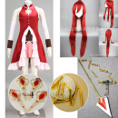 Cosplay accessories Equipment / weapons Customized Home Chain seven section whip, cos clothing (6 Piece Set), cos wig red (1 tiger clip), soul stone, EVA long gun head + 2 long tube (tail tip, wood gun head + 2 long tube (tail tip) Cartoon characters