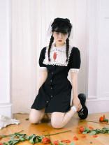 Dress Summer 2020 S,M,L Short skirt Short sleeve High waist puff sleeve Type X