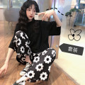 Fashion suit Summer of 2019 S,M,L,XL Black top + wide leg pants 18-25 years old Other / other 660Y 96% and above polyester fiber