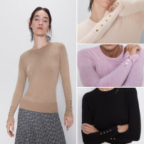 Wool knitwear Autumn 2020 S,M,L Long sleeves singleton  Socket other 81% (inclusive) - 90% (inclusive) Regular routine street Half height crew neck Europe and America