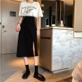 skirt Autumn 2020 S M L Apricot black Mid length dress commute High waist A-line skirt Solid color Type A 18-24 years old 51% (inclusive) - 70% (inclusive) other Xianweiya cotton Korean version Cotton 68.6% polyester 31.4% Pure e-commerce (online only)