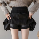 skirt Winter 2020 S. M, l, XL, 2XL, collect and add shopping cart to enjoy [priority delivery], click the store home page to pay attention to [receive red envelope] Short skirt commute High waist Pleated skirt Solid color Type A 18-24 years old Wool zipper Korean version